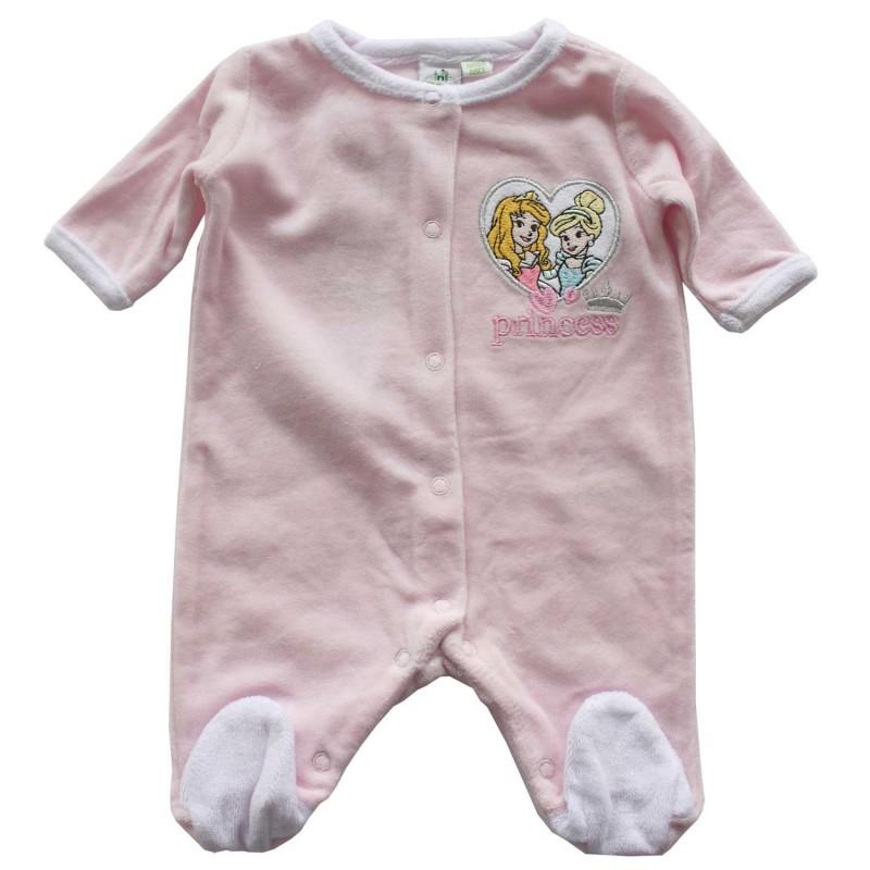 Disney Baby Princess Βρεφικό Βελούδινο Φορμάκι (HO0355)