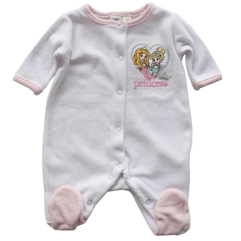 Disney Baby Princess Βρεφικό Βελούδινο Φορμάκι (HO0355A)
