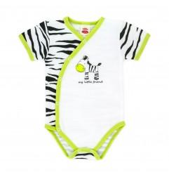Makoma Βρεφικό Κοντομάνικο Ζιπουνάκι Τύπου Φάκελος Zebra (03158)