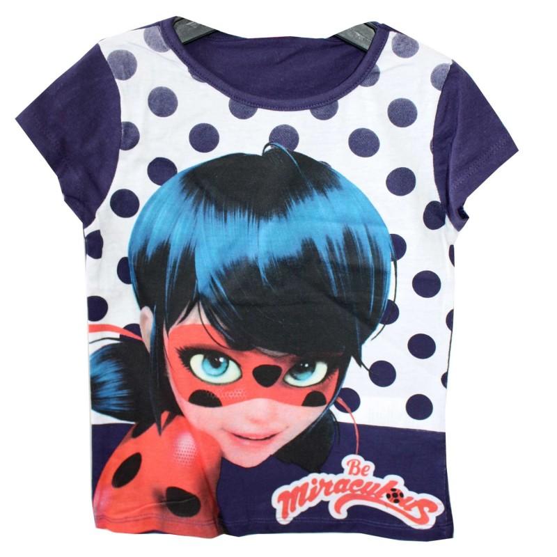 Miraculous Ladybug Κοντομάνικο Μπλουζάκι Για Κορίτσια ( ER1469A)