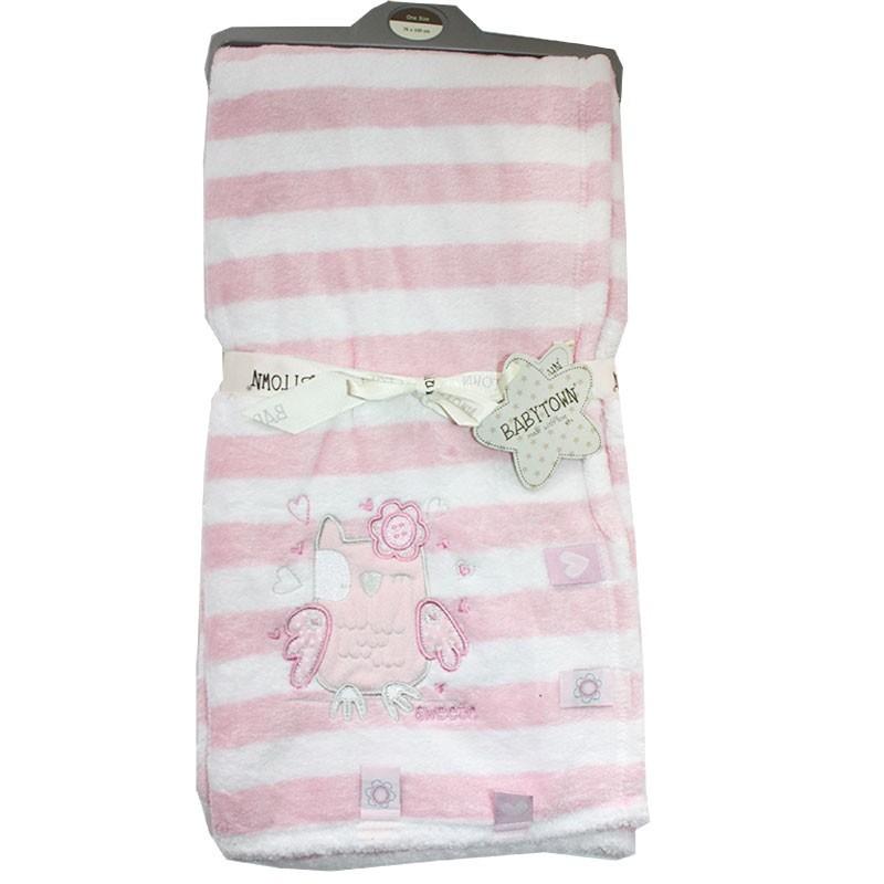 BabyTown Βρεφική κουβέρτα Fleece Coral (19C172)