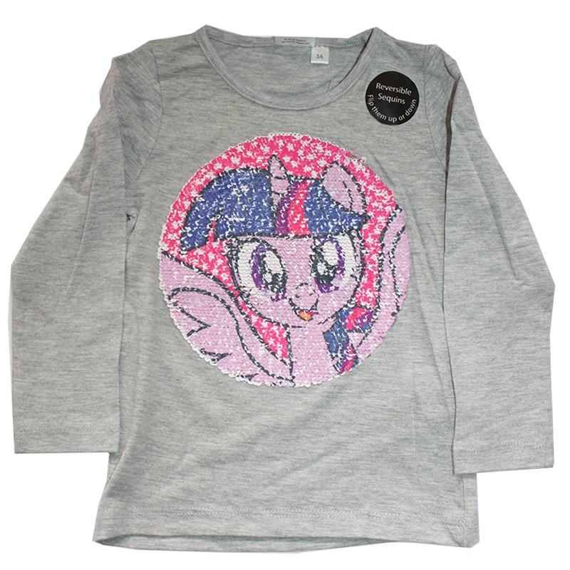 My Little Pony Μακρυμάνικο Μπλουζάκι Για Κορίτσια με ματ παγιέτα που αλλάζει σχέδιο(RH1356A)