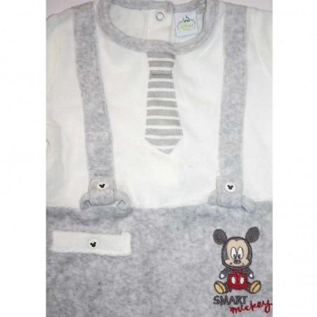 Disney Baby Mickey Mouse βρεφικό βελούδινο φορμάκι (HQ0017)