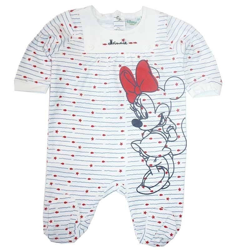 Diney Baby Minnie Mouse βρεφικό βαμβακερό φορμάκι για κορίτσια (ER0173)