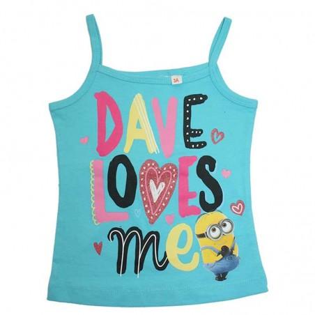 Minion Μπλουζάκι με ραντάκι για κορίτσια  (EΡ1602)