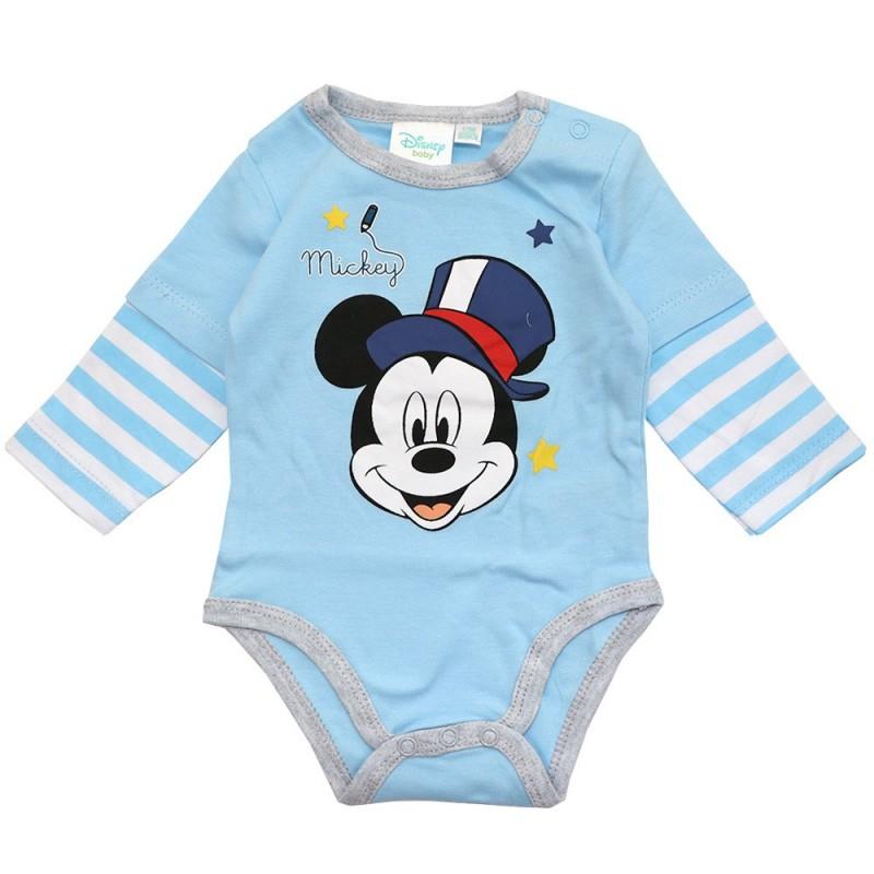 Disney Baby Mickey Mouse Βρεφικό βαμβακερό Ζιπουνάκι (91524A)