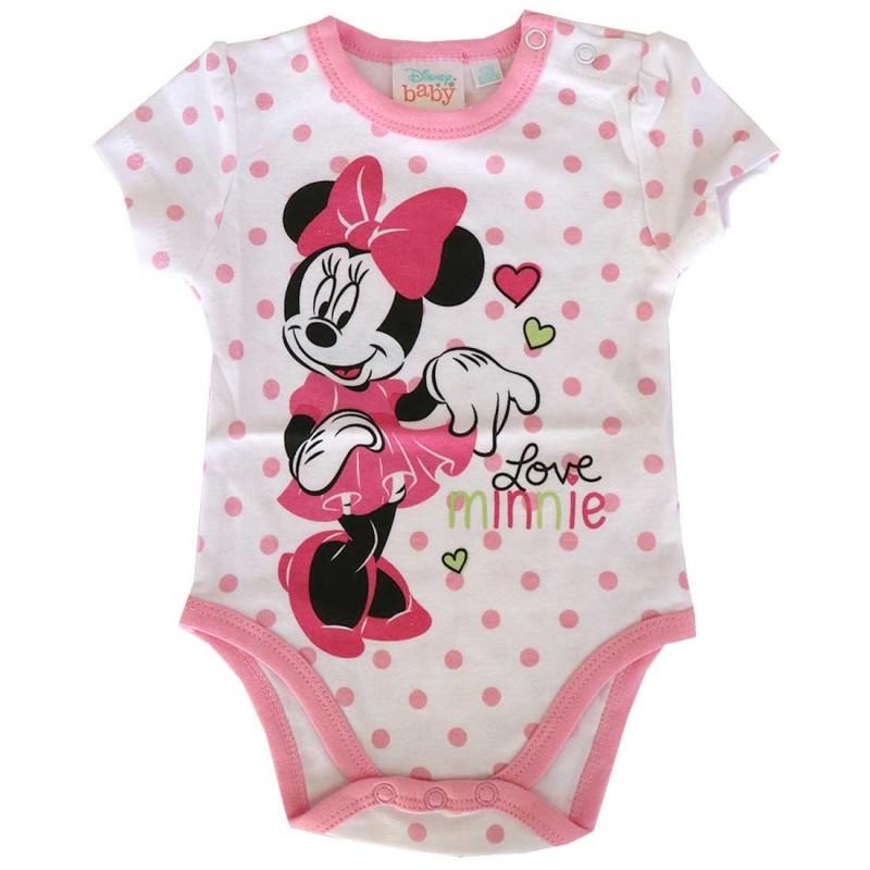 Disney Baby Minnie Mouse βρεφικό Κοντομάνικο Ζιπουνάκι (DISM 01019A)