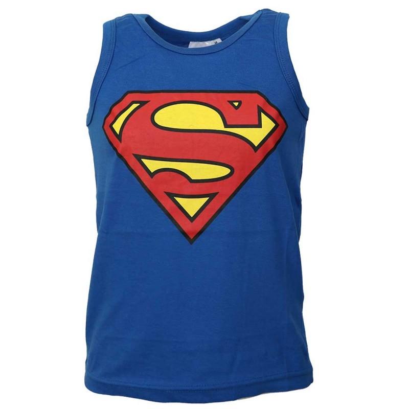 DC Comics Superman αμάνικο Μπλουζάκι Για Αγόρια (980-297blue)