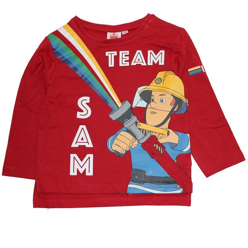 Fireman Sam Μακρυμάνικο μπλουζάκι για αγόρια (HS1151)