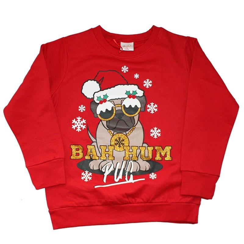 Παιδική Χριστουγεννιάτικη μπλούζα φούτερ (11C101R)