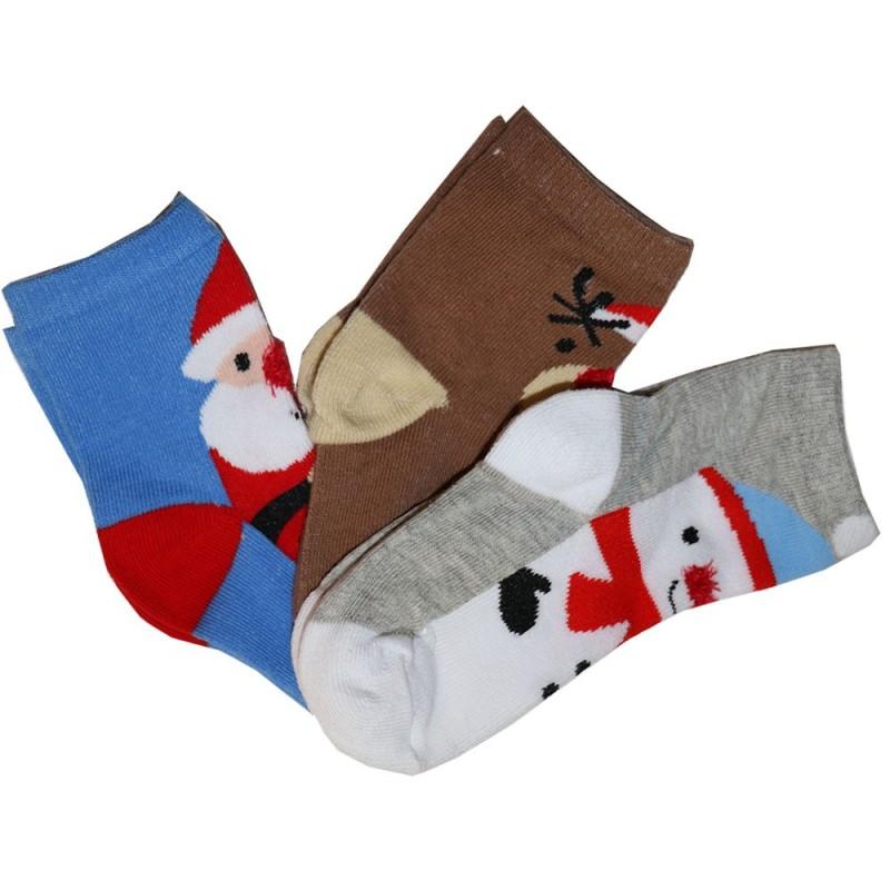 Βρεφικές Χριστουγεννιάτικες Κάλτσες σετ 3 (44B761A)