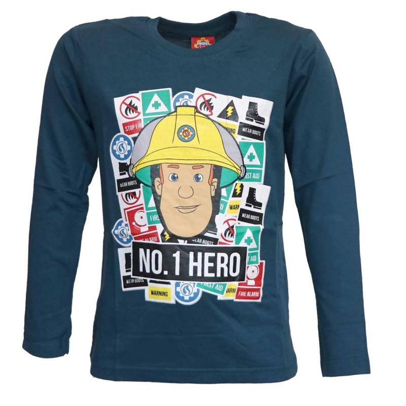 Fireman Sam Μακρυμάνικο μπλουζάκι για αγόρια (SAM 52 02 117)