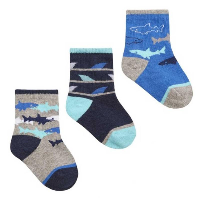Tick Tock Βρεφικές Κάλτσες για αγόρια σετ 3 (44B867G)
