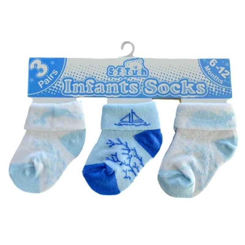Soft Touch Βρεφικές Κάλτσες σετ 3 ζευγάρια (s69A)