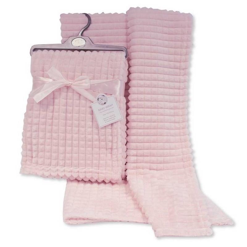 Snuggle Baby Βρεφική κουβέρτα βελούδινη jacquard - Squares  75x100εκ (BW-112-1030P)