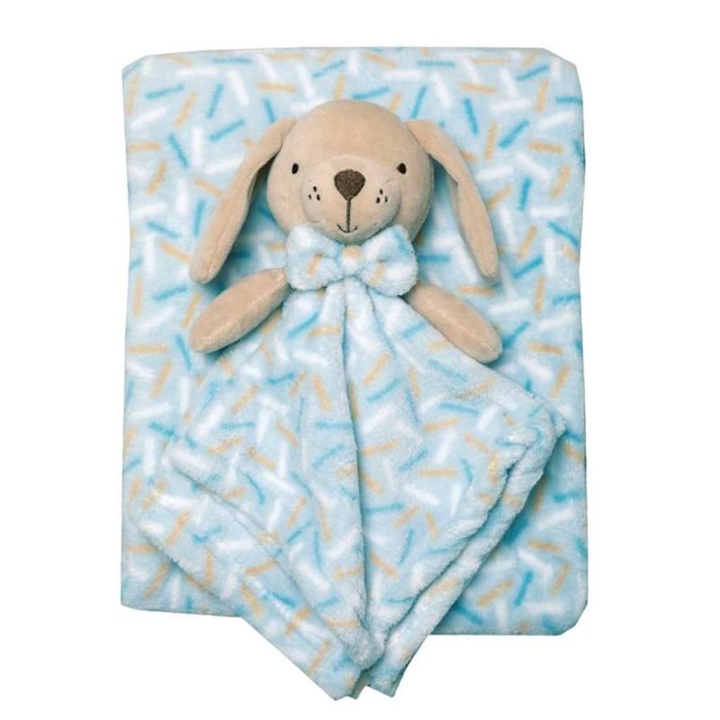 Snuggle Tots Βρεφική κουβέρτα με κουκλάκι αγκαλιάς - 75x90εκ. (R18036)