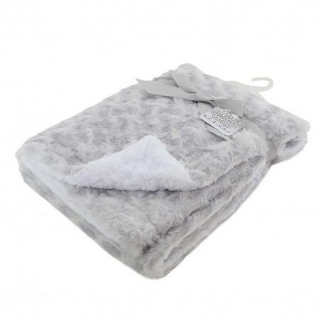Soft Touch Βρεφική διπλή κουβέρτα Deluxe Grey Rose Mink 70x100εκ. (FBP30-G)