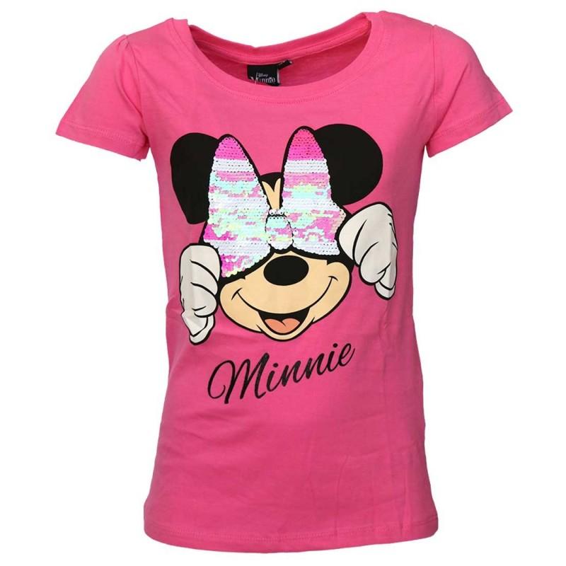 Disney Minnie Mouse Κοντομάνικο Μπλουζάκι για κορίτσια με παγιέτα που αλλάζει σχέδιο (DISM 02027FUX)