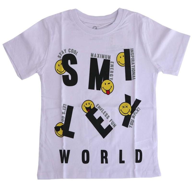 Smiley Παιδικό κοντομάνικο Μπλουζάκι για αγόρια (SM 52 02 132)