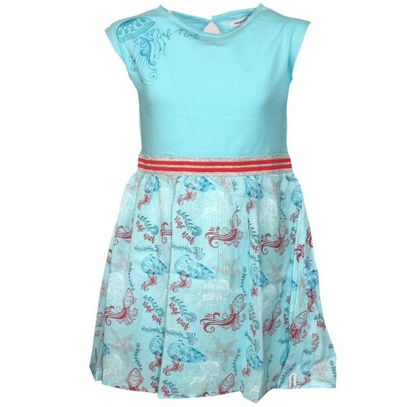 NAF NAF Παιδικό φόρεμα για κορίτσια (NNSE1027LBLUE)