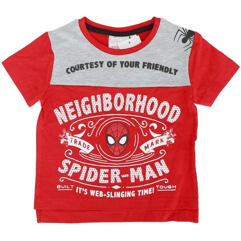 Marvel Spiderman κοντομάνικο Μπλουζάκι Για Αγόρια (SE1087)