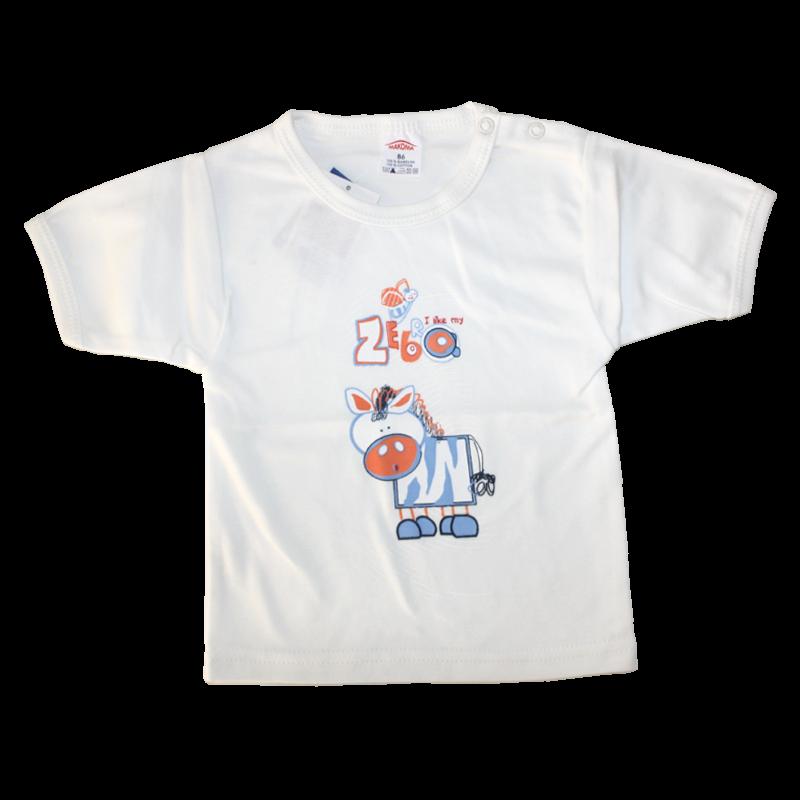 """Βρεφικό βαμβακερό μπλουζάκι """"Zebra"""""""