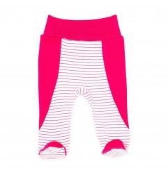 Makoma Βρεφικό Παντελόνι Με Κλειστό Ποδαράκι Pink Rabit